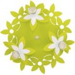 Plafon dziecięcy Nowodvorski FLOWERS  GREEN III plafon okrągły 6900