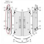 Płyta stała 80 lewa, szkło przezroczyste Reflex Koło NIVEN FKPF A170033RE