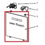 Płyta szklana z elektroniką do obudowy górnej stelaża podtynkowego TECElux Tece 9.820.285