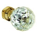 Pokrętło do baterii podtynkowej termostatycznej Kludi ADLON 7345945-00 kryształ/złoto