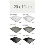 Półka szklana 20x10 MCJ FLAT/BEND GA 200/10/GMWH glamour/lienzo