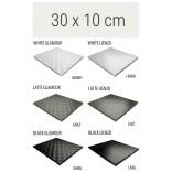 Półka szklana 30x10 MCJ FLAT/BEND GA 300/10/GMWH glamour/lienzo
