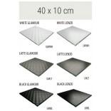 Półka szklana 40 cm MCJ FLAT/BEND GA 4X/10/GMWH glamour/lienzo