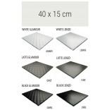 Półka szklana 40 cm MCJ ZERO/FLAT/BEND GA 4X/15/GMWH glamour/lienzo