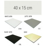 Półka szklana 40 cm MCJ ZERO/FLAT/BEND GA 4X/15/STWH satin/gold