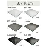 Półka szklana 60x10 MCJ FLAT/BEND GA 600/10/GMWH glamour/lienzo
