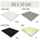 Półka szklana 60x10 MCJ FLAT/BEND GA 600/10/STWH satin/gold