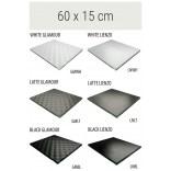 Półka szklana 60x15 MCJ FLAT/BEND GA 600/15/GMWH glamour/lienzo