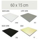 Półka szklana 60x15 MCJ FLAT/BEND GA 600/15/STWH satin/gold