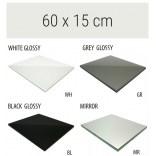 Półka szklana 60x15 MCJ FLAT/BEND GA 600/15/WH glossy/mirror