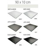 Półka szklana 90x10 MCJ FLAT/BEND GA 900/10/GMWH glamour/lienzo