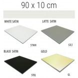 Półka szklana 90x10 MCJ FLAT/BEND GA 900/10/STWH satin/gold