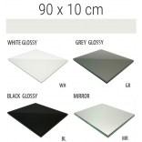 Półka szklana 90x10 MCJ FLAT/BEND GA 900/10/WH glossy/mirror