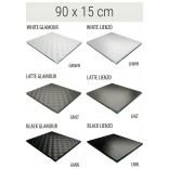 Półka szklana 90x15 MCJ FLAT/BEND GA 900/15/GMWH glamour/lienzo