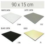 Półka szklana 90x15 MCJ FLAT/BEND GA 900/15/STWH satin/gold