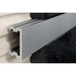 Profil U aluminiowy 12x250 cm anodowany szczotkowany Excellent LIPOASSZSR.08/12/250 srebrny