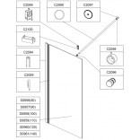 Profil aluminiowy górny Sanplast ALTUS 660-C2095