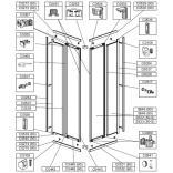 Profil górny lewy do kabiny kwadratowej 80 cm Sanplast ZODIAK PLUS 660-C0272
