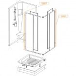 Profil mocujący U 1750 mm do kabiny PK/DJ-c Sanplast CLASSIC 660-C0027