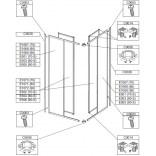 Profil mocujący U 185 cm do kabiny prysznicowej Sanplast CLASSIC 660-C0028