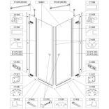 Profil mocujący do kabiny prysznicowej Sanplast FREE LINE 660-C1398