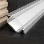 Profil oświetleniowy narożny / wpuszczany 23x250 cm aluminiowy Excellent LIPOSLEDSR.23/250 srebrny