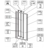 Profil pionowy drzwi, uszczelniający do drzwi przesuwnych DT3/EKOPLUS Sanplast 660-C0463