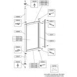Profil pionowy tylny do parawanu PS-S/ASP, PS-W/ASP Sanplast ASPIRA 660-C0510