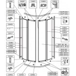 Profil pionowy zamykający drzwi kabiny półokrągłej Sanplast 660-C0452