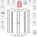 Profil poziomy gięty Sanplast TX5 660-C2026