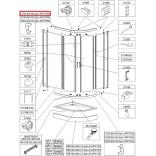Profil poziomy gięty Sanplast TX5 660-C2102