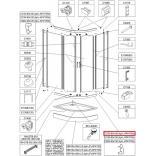 Profil poziomy gięty Sanplast TX5 660-C2103