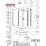 Profil poziomy gięty Sanplast TX5 660-C2104
