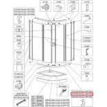 Profil poziomy gięty Sanplast TX5 660-C2105