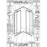 Profil poziomy górny prawy lub dolny lewy do kabiny kwadratowej 80 cm Sanplast EKO PLUS 660-C1344