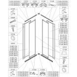 Profil poziomy górny prawy lub dolny lewy do kabiny kwadratowej KN/NST-c 70 cm Sanplast NOWY STANDARD 660-C1134