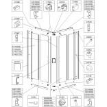 Profil poziomy prosty górny lewy, dolny prawy KN/TX5b+Bza Sanplast TX5 660-C2019