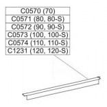 Profil poziomy ramy, górny do drzwi przesuwnych DTr-c 100 cm Sanplast CLASSIC 660-C0573