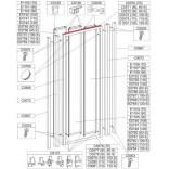 Profil poziomy ramy, górny do drzwi przesuwnych DTr-c 110 cm Sanplast CLASSIC 660-C0574
