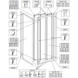 Profil poziomy ramy, górny do kabiny kwadratowej 70 cm Sanplast CLASSIC 660-C0570