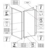 Profil poziomy ramy, górny do kabiny kwadratowej 70 cm Sanplast CLASSIC 660-C0647