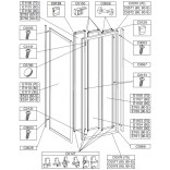 Profil poziomy ramy, górny do kabiny kwadratowej 80 cm Sanplast CLASSIC 660-C0571