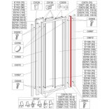 Profil regulacyjny 1850 mm do drzwi przesuwnych DTr-c Sanplast CLASSIC 660-C0072