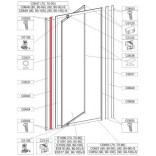 Profil regulacyjny 1850 mm do drzwi skrzydłowych DJ-c Sanplast CLASSIC 660-C0040
