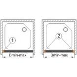 Profil regulacyjny do do drzwi ASPII Sanplast 661-A0028-39 srebrny matowy