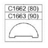 Próg gięty do kabiny Sanplast KP2/PRIII 90 cm Sanplast PRESTIGE III 660-C1663