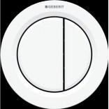 Przycisk uruchamiający meblowy do WC dwudzielny, pneumatyczny, ręczny Geberit TYP 01 116.050.11.1 biały