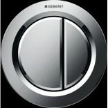 Przycisk uruchamiający meblowy do WC dwudzielny, pneumatyczny, ręczny Geberit TYP 01 116.050.21.1 chrom
