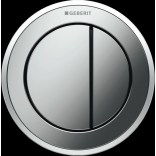 Przycisk uruchamiający meblowy do WC dwudzielny, pneumatyczny, ręczny Geberit TYP 10 116.057.KN.1 chrom matowy