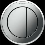Przycisk uruchamiający podtynkowy do WC SIGMA 8 cm dwudzielny, pneumatyczny, ręczny Geberit TYP 10 116.056.KH.1 chrom matowy